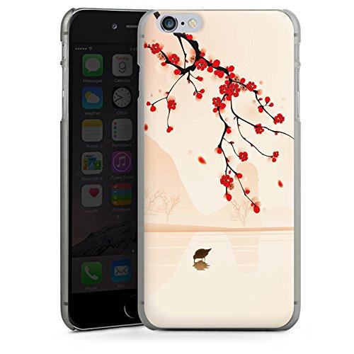 Apple iPhone X Silikon Hülle Case Schutzhülle Baumzweig Blätter Blüten Hard Case anthrazit-klar