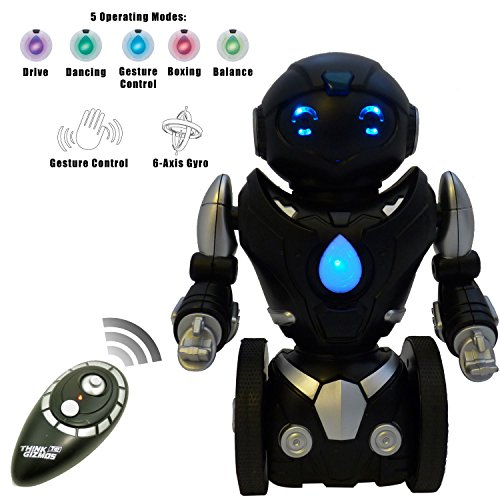 ThinkGizmos Remote Control Balance Robot Toy for Kids (Version 2!!) - TG634 Smart Interactive RC Robot By ThinkGizmos (Trademark Protected) (Black amp; Silver)