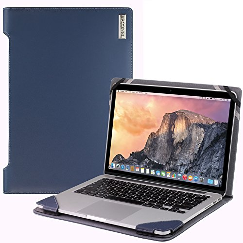 Broonel London - Profile Series - Blue Leather Luxury Laptop Case For Macbook Pro 15-Inch 2015