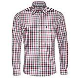 Almsach Camicia da Uomo per Costume Tradizionale Bavarese Slim-Fit Slim-Line a Quadretti, Disponibile in Diversi Colori Rosso e Abete. L