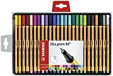 STABILO Point 88 Fineliner - Assorted Colours, Wallet of 25