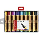 STABILO point 88 - Coffret de 25 stylos-feutres pointe fine - Coloris assortis