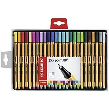 Fineliner - STABILO point 88-25er Pack - mit 25 verschiedenen Farben