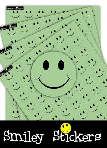 700 Smiley Stickers Freundlich/Fröhlich Grün Etiketten, 25 mm Durchmesser Bunte Aufkleber/Etiketten für Eltern, Lehrer und Kinder