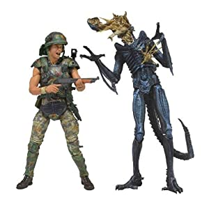 Alien 7 Inches Action Figure Series : Dwayne Hicks vs Blue Warrior by Neka by Neka
