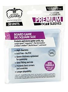 Ultimate Guard 10288 Premium Sleeves Fundas de Cartas del Juego de Mesa Cuadrado Grande (50)