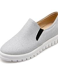 ZQ gyht Zapatos de mujer - Plataforma - Plataforma / Punta Redonda - Mocasines - Exterior / Vestido / Casual - Semicuero - Negro / Blanco , white-us5 / eu35 / uk3 / cn34 , white-us5 / eu35 / uk3 / cn3