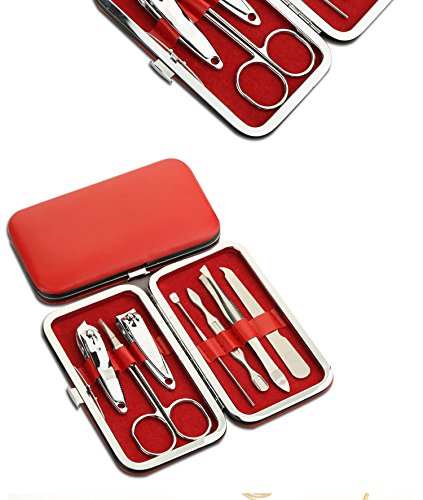 garcoo-manicure-set-pedicure-kit-nail-clippers-set-of-7-stainless-steel-personal-nail-care-tool-kit-