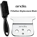 Andis Replacement Hair Trimmer Blade (04521) With A BeauWis Blade Brush