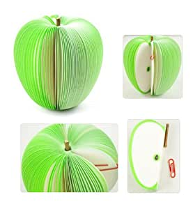 AKORD Bloc-notes mémo pad en forme de fruit, légume - idée cadeau originale (pomme verte)
