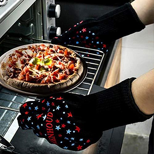 PZKSN Ofenhandschuhe 1 Paar Hochtemperaturbeständige Handschuhe Mikrowellenherd Küche BBQ Isolierung Verbrühschutzhandschuhe Küchenwerkzeug Lodge Cast Iron Pizza Pan