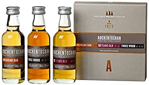 Auchentoshan Single Malt Whisky Miniature Gift Set (contains 3 x Auchentoshan 5cl miniatures) from Auchentoshan
