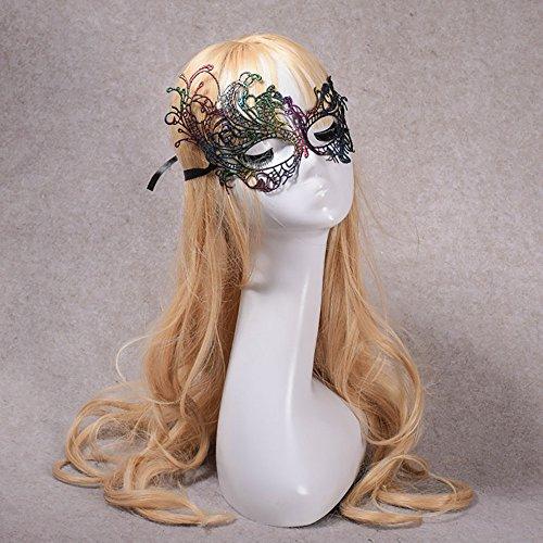 SilenceID Maskerade Lace Mask venezianischen Karneval Catwoman Halloween Augenmaske Cosplay Prom Party - Für Erwachsene Bodysuit Catwoman Kostüm
