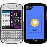 DesignedByIndependentArtists Hülle für Blackberry BB Q10 - Ich Liebe Miami by ilovecotton