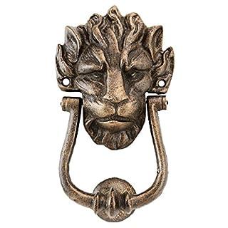 Design Toscano 10 Downing Street Lion Authentic Foundry Iron Door Knocker