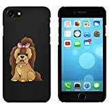 Azeeda Negro 'Perro Yorkshire Terrier' Funda / Carcasa para iPhone 7...