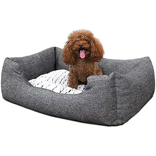 regalos tus mascotas mas kawaii SONGMICS Cómodo Casa para mascotas, Cama para perros Perrera S Dimensiones externas : 60 x 50 x 22 cm PGW22G