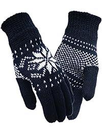 Unisex Mantiene caldi guanti a maglia con fodera Thinsulate a8c41c20a4eb