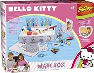 Lansay - 23664 - Loisirs Créatifs - Feutres - Blopens Maxi Box d'activités Hello Kitty