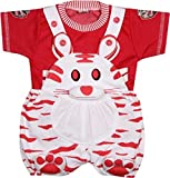 #9: Miss U Unisex Dungaree set with T shirt (cat-red_Red_0-6 Months)