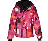 Bergson Kinder Skijacke Nina, Pink/Orange/Allover Print [127, 128 - Kinder