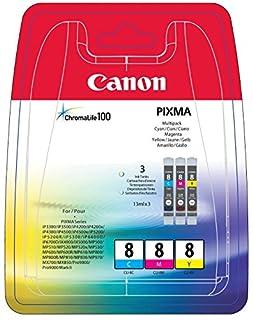 Canon CLI-8 3 Cartuchos Multipack de tinta original Cian/Magenta/Amarillo para Impresora de Inyeccion de tinta Pixma MX700-MX850-MP500-MP510-MP520-MP520x-MP530-MP600-MP600R-MP610-MP800-MP800R-MP810-MP830-iP3300-iP3500-iP4200-iP4200x-iP4300-iP4500-iP4500x (B003P1KJ5M) | Amazon price tracker / tracking, Amazon price history charts, Amazon price watches, Amazon price drop alerts