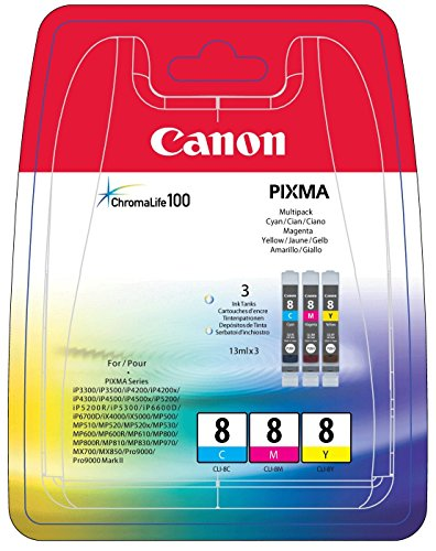 Canon 0621B029 Tintenpatronen  cyan/magenta/gelb (3x13ml) (Canon Ip4200 Pixma Drucker)