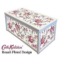WHITE WOODEN STORAGE CHEST BOX / TOY BOX WITH CATH KIDSTON IKEA ROSALI STICKERS