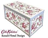 Color blanco de madera caja de almacenaje/caja de juguetes con Cath Kidston IKEA ROSALI-pegatinas