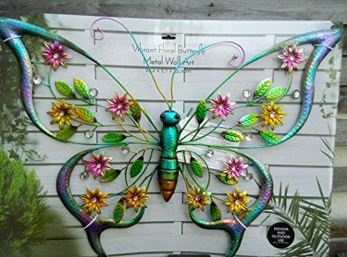 Metal Color Butterfly Fence Hanger Wall Yard Outdoor Lawn Garden Decor 19*11cm Yard, Garden & Outdoor Living