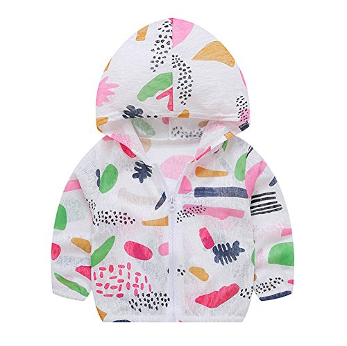 hellomiko Frühling-Sommer dünne Jacke Kinderjacke Mantel Baby Boy Girl Fruit Print Sonnencreme Jacke Kapuzenjacke (Burg-jacken)