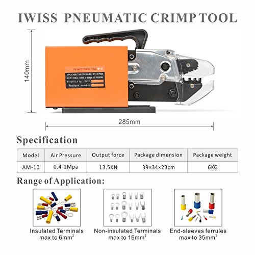 Zoom IMG-1 iwiss am 10 pneumatico crimping