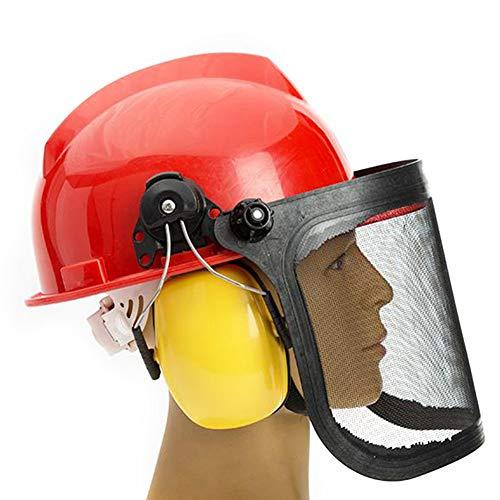 MCLseller Casco de Seguridad Casco de Trabajo con Orejeras Protectoras para...