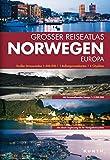 Grosse Reiseatlas Norwegen, Europa: Großer Straßenatlas 1:300.000, 1 Ballungsraumkarte, 4 Citypläne