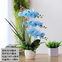 Pu Orquídea Mariposa Azul florero Artificial decoración falsos