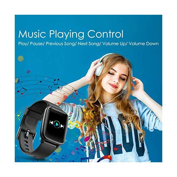 CHEREEKI Smartwatch Reloj Inteligente, Impermeable IP68 Pulsera Actividad con Ritmo Cardíaco, Reloj de Fitness con… 7