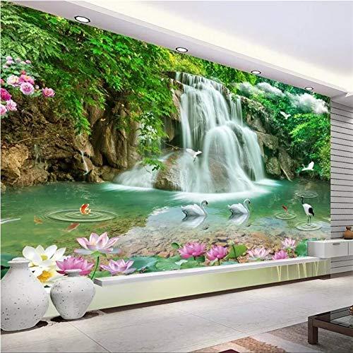 Lxsart Benutzerdefinierte Wallpaper 3d Wandbilder Horizontale Landschaft Wasserfall Landschaft TV Hintergrund Wand 3d wallpaper-300cmx210cm - Horizontale Textur Wallpaper