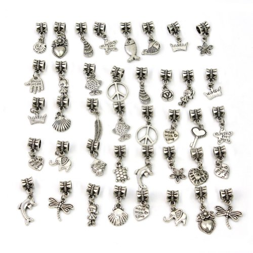 40pcs-mode-argent-tibetain-metal-perles-collier-bracelet-bijoux-diy-pandora-intercalaires-breloque-c