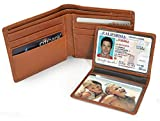 RFID Blocking Wallet for Men, Slim Bifold as Gift, Stylish Genuine Leather, Excellent ID Credit Card Protector, 100% Money Back Guarantee