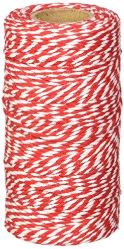 Playbox - Algodón Cordeles, Rojo y Negro, 100 mtrs x 2 mm - (PBX2471183)