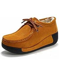 Además de la Cachemira Sacudiendo Los Zapatos Femeninos Gruesos Fondo Muffin Ocio Botas de Algodón Zapatos de...
