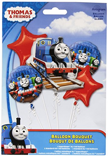 ANAGRAM Thomas & Friends Bouquet of Balloons (5 per Package) by by