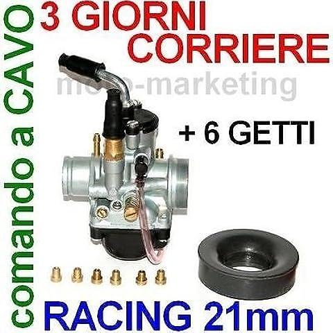 RACING 21mm CARBURATORE STARTER a CAVO per DERBI SENDA XTREME X TREME LIQUIDO 50