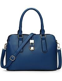 TOOGOO(R) Fashion Business Women Messenger Bags High Quality Office Bag Double Zipper Crossbody Bag PU Leather... - B01M7ORQ7C