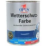 Opus Wetterschutzfarbe, 2,5 Liter in Schwedenrot