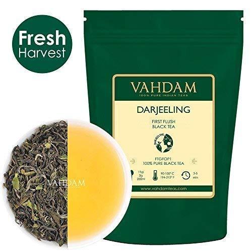 VAHDAM, 2019 primo tè Flush Darjeeling (200+ tazze) - fiorito, aromatico e delizioso - Picked, confezionato e spedito direttamente dall'India, Darjeeling Tea First Flush, 454g