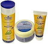 Set für Pflege fettiger, unreiner Haut sowie Mischhaut: Sivash-Heilerde 250 g + Teebaumöl-Waschgel 200 ml + Feuchtigkeitscreme 50 ml