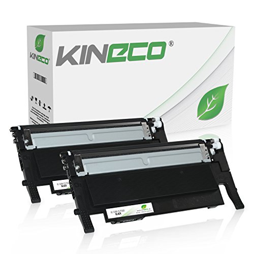 2 Toner kompatibel zu Samsung CLT-K406S CLP-360 N ND Series 365 W CLX-3300 3305 FN FW W Series Xpress C410 C460 FW W Series - Schwarz je 1.500 Seiten