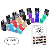 Zoegate Kinesiologie Tape Sporttape Kinesiotape Physio Muskeln Tape Tapeverband Elastische Bandage + Step Guide