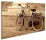 islandburner Bild Bilder auf Leinwand Hollandrad Sepia Retro Altes Fahrrad 1p XXL Poster Leinwandbild Wandbild Dekoartikel Wohnzimmer Marke